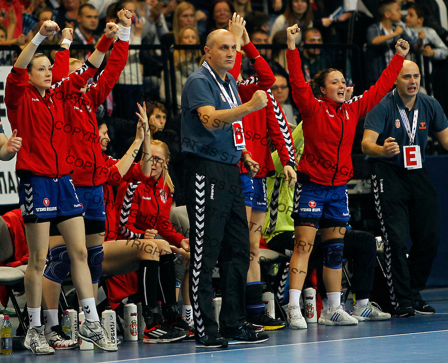 SERBIA, Belgrade: Sasa Boskovic during handball Women's World Championship final match between Brazil and Serbia in Belgrade, Serbia on Sunday, December 22, 2013. (credit image & photo: Pedja Milosavljevic / STARSPORT / +318 64 1260 959 / thepedja@gmail.com)