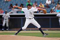 May 14, 2010 .Pitcher Daniel Kapala of the Tampa Yankees delivers a pitch during a game at George M Steinbrenner Field in Tampa, FL. Tampa is the Florida State League High Class-A affiliate of the New York Yankees. Photo By Mark LoMoglio/Four Seam Images