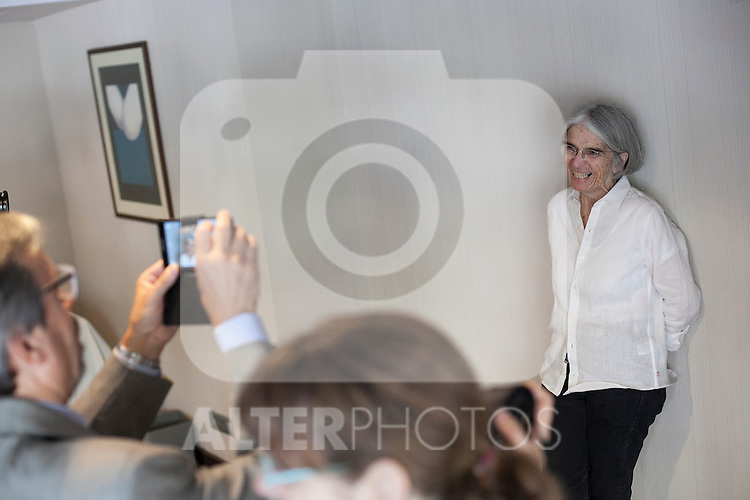 US writer Donna Leon poses during a press meeting in Madrid, Spain. June 08, 2015. (ALTERPHOTOS/Victor Blanco)