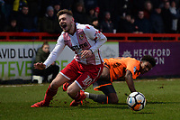 Ben Kennedy of Stevenage goes down during Stevenage vs Reading, Emirates FA Cup Football at the Lamex Stadium on 6th January 2018