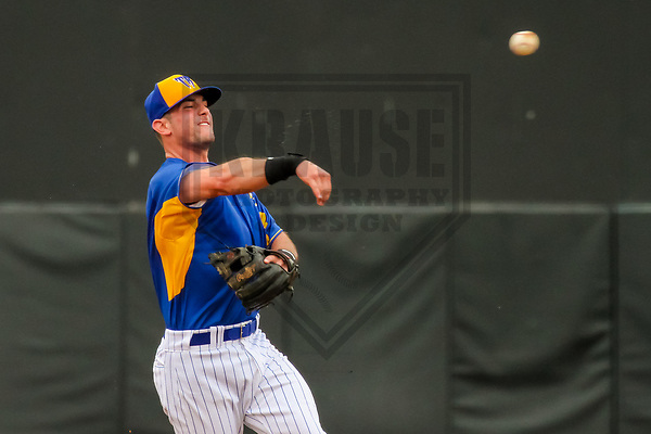 Wisconsin Timber Rattlers second baseman Trey York (26) during a Midwest League game against the Kane County Cougars on June 11, 2017 at Fox Cities Stadium in Appleton, Wisconsin.  Kane County defeated Wisconsin 6-4. (Brad Krause/Krause Sports Photography)