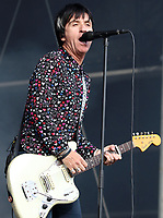 Johnny Marr performing live on stage during the All Points East Festival at Victoria Park  in London, May 25th 2019<br />