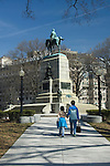 Washington D. C., mother and daughter walking, released, (MR#)