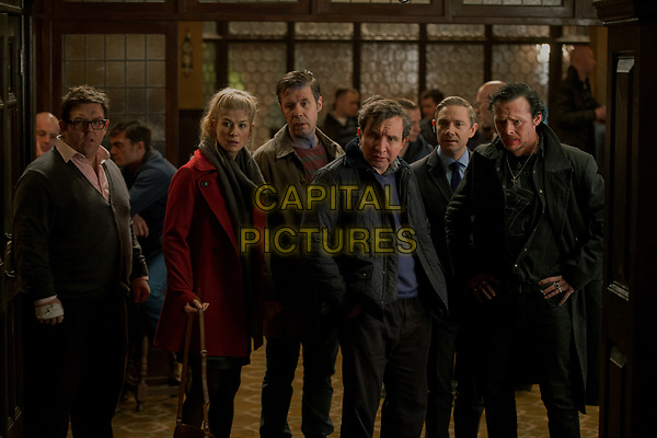 The World's End (2013) <br /> Martin Freeman, Simon Pegg, Nick Frost, Paddy Considine, Eddie Marsan &amp; Rosamund Pike<br /> *Filmstill - Editorial Use Only*<br /> CAP/KFS<br /> Image supplied by Capital Pictures