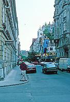 Friedensreich Hundertwasser: Hundertwasser House viewed from a block away. Vienna. Photo '87.