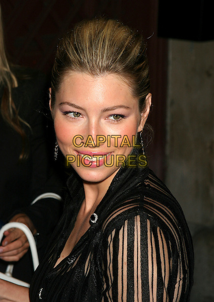 JESSICA BIEL.At the David Letterman Show at the Ed Sullivan Theater in New York City. .July 18th, 2005.headshot portrait.www.capitalpictures.com.sales@capitalpictures.com.©Capital Pictures