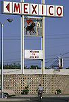 A signs welcomes those to the U.S. Border in Del Rio, Texas.  While the traditional mission of the United States Border Patrol has always been the detection and prevention of the illegal entry of aliens and smuggling of illegal contraband into the United States anywhere other than a designated port-of-entry, the dawn of the age of terrorism within our nation has added a new and high priority mission: to detect and prevent the entry of terrorists and their weapons into the United States. Jim Bryant Photo..©2006. All Rights Reserved.