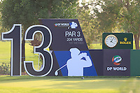 The 13th tee during the Pro-Am for the DP World Tour Championship at the Jumeirah Golf Estates in Dubai, UAE on Monday 16/11/15.<br /> Picture: Golffile | Thos Caffrey<br /> <br /> All photo usage must carry mandatory copyright credit (&copy; Golffile | Thos Caffrey)