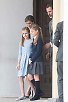 Queen Letizia, Princess Sofia, Princess Leonor and King Felipe VI during the First Communion of princess Sofia at Asuncion de Nuestra Senora Church in Madrid, May 17, 2017. Spain.<br /> (ALTERPHOTOS/BorjaB.Hojas)