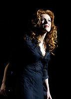 April 4. 2002, Montreal, Quebec, Canada; <br /> <br /> Isabelle Boulay perform with the Montreal Symphonic Orchestra, April 4 2002<br /> <br /> <br /> <br /> NOTE :  D-1 H original JPEG, saved as Adobe 1998 RGB
