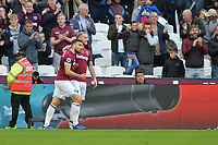 Marko Arnautovic Of West Ham United scores the first Goal and celebrates during West Ham United vs Burnley, Premier League Football at The London Stadium on 3rd November 2018