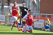 08/08/2015 Sky Bet League 1 Fleetwood Town v Southend United<br /> Declan McManus celebrates after scoring the opening goal for Fleetwood Town