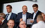 04.08.18 St Mirren v Dundee: Steven Gerrard and Gary McAllister with Ian Maxwell