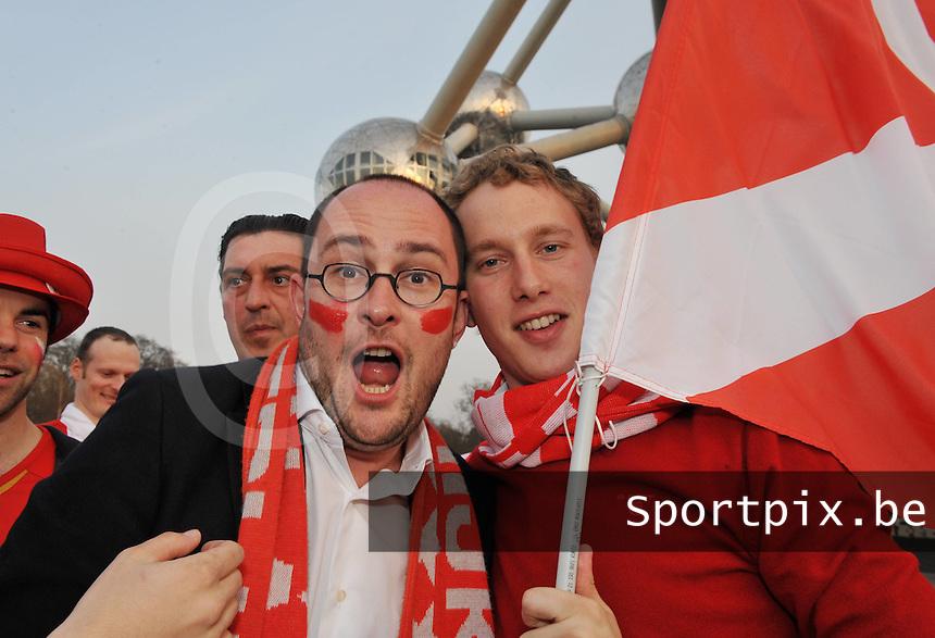Bekerfinale KV Kortrijk - Sporting Lokeren : Vincent Van Quickenborne voor de finale in het KVK - Dorp aan de Heyzel ..foto VDB / Bart Vandenbroucke