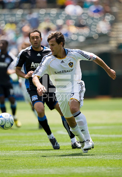 June 20, 2009:  Stefani Miglioranzi of Galaxy in action during a game at Coliseum in Oakland, California. San Jose Earthquakes defeated Los Angeles, 2-1.