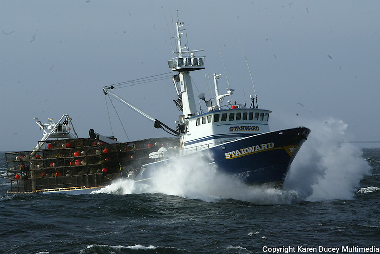 10/14/03 crab NWS:: The F/V Starward heads to the crabbing grounds in Bristol Bay Alaska.