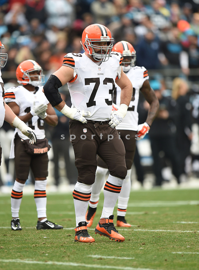 Cleveland Browns Joe Thomas (3) during a game against the Carolina Panthers on December 21, 2014 at Bank of America Stadium in Charlotte, NC. The Panthers beat the Browns 17-13.