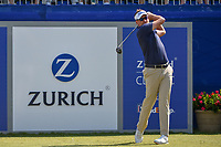 Ian Poulter (GBR) watches his tee shot on 1 during Round 3 of the Zurich Classic of New Orl, TPC Louisiana, Avondale, Louisiana, USA. 4/28/2018.<br /> Picture: Golffile | Ken Murray<br /> <br /> <br /> All photo usage must carry mandatory copyright credit (&copy; Golffile | Ken Murray)