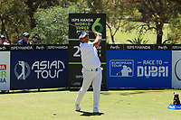 Prom Meesawat (THA) in action on the 2nd during Round 3 of the ISPS Handa World Super 6 Perth at Lake Karrinyup Country Club on the Saturday 10th February 2018.<br /> Picture:  Thos Caffrey / www.golffile.ie<br /> <br /> All photo usage must carry mandatory copyright credit (&copy; Golffile | Thos Caffrey)
