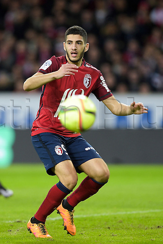 21.02.2016. Lille, France. French League 1 football. Lille versus Lyon.  Yassine Benzia (Losc)