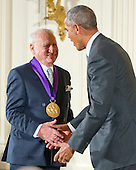 United States President Barack Obama presents the 2015 National Medal of Arts to Mel Brooks, Actor, Comedian, & Writer of New York, New York during a ceremony in the East Room of the White House in Washington, DC on Thursday, September 22, 2016.<br /> Credit: Ron Sachs / CNP