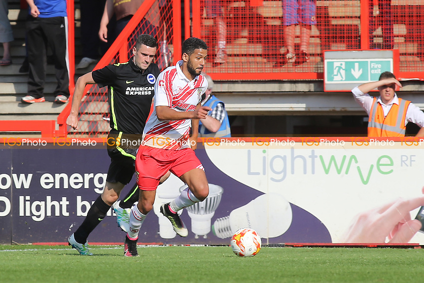Jobi McAnuff of Stevenage races upfield during Stevenage vs Brighton and Hove Albion, Friendly Match Football at the Lamex Stadium on 23rd July 2016
