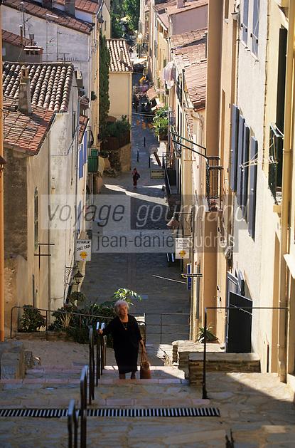 Europe/France/Languedoc-Roussillon/66/Pyrénées -Orientales/Banyuls-sur-Mer:  Dans les ruelles du village