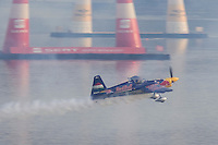 0708193961a Red Bull Air Race international air show qualifying runs over the river Danube, Budapest preceding the anniversary of Hungarian state foundation. Hungary. Sunday, 19. August 2007. ATTILA VOLGYI