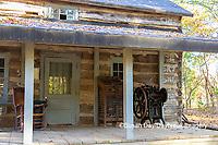 63895-16509 Cabin at Log Cabin Village in fall Kinmundy IL