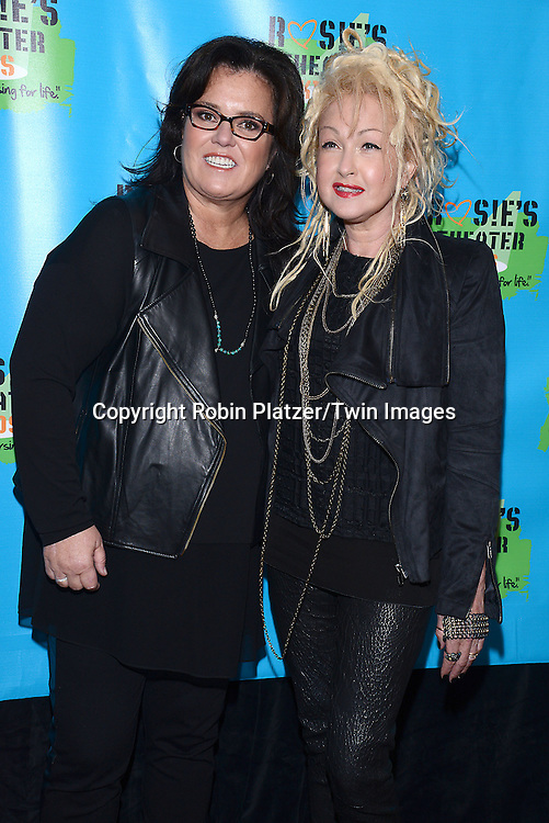 Rosie O'Donnell and  Cyndi Laupe attend Rosie O'Donnell's 11th Annual Rosie's Theater Kids Gala on September 22, 2014 at The New York Marriott Marquis in New York City. <br /> <br /> photo by Robin Platzer/Twin Images<br />  <br /> phone number 212-935-0770