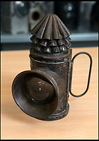 BNPS.co.uk (01202 558833)<br /> Pic: TomWren/BNPS<br /> <br /> Portable police lantern.<br /> <br /> This is the 'Lady with the Lamp' whose impressive collection of 400 historic lamps has emerged for auction and is tipped to sell for &pound;10,000.<br /> <br /> Pamela Barnes and her husband Kenneth have amassed a remarkable haul of 19th and 20th century railway, naval and mining lamps.<br /> <br /> It all started 50 years ago when Mr Barnes, 90, gave up smoking and decided he needed another 'bad habit'. <br /> <br /> The couple picked up the lamps at second hand shops and would take them in their caravan to rallies across the south of England.