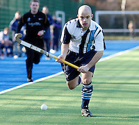 David Eakins in action for Hampstead during the EHL Mens Cup Quarter-Final game between Hampstead and Westminster and Old Loughtonians at the Paddington Recreation Ground, Maida Vale on Sun Mar 7, 2010