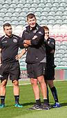 30th September 2017, Welford Road, Leicester, England; Aviva Premiership rugby, Leicester Tigers versus Exeter Chiefs;  Exeter's Director of Rugby Rob Baxter examines the Welford Road pitch ahead of kick-off