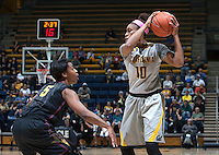 Mercedes Jefflo of California controls the ball during the game against Arizona State at Haas Pavilion in Berkeley, California on February 16th, 2014.  California defeated Arizona State, 74-63.