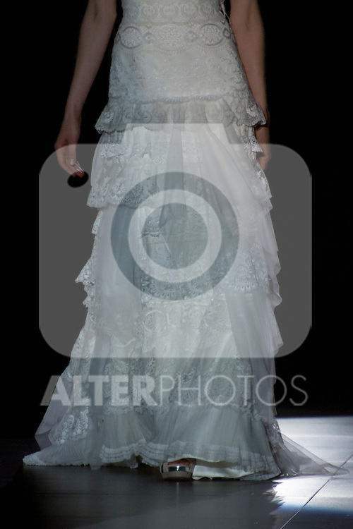 A model presents brides and party designs of Runway Lucia Botella to Pepe Botella at the Cibeles Madrid Novias in Ifema (Alterphotos/Marta Gonzalez)