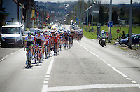 peloton led by Damien Howson (AUS/Orica-GreenEDGE)<br /> <br /> 55th Brabantse Pijl 2015
