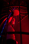 paid dancer caged in a club in Pilsen