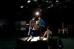 Ballerina Lilja Rúriksdóttir (center), David Norsworthy and Maximilian Cappelli-King rehearse a dance choreographed and directed by Jonah Bokaer.