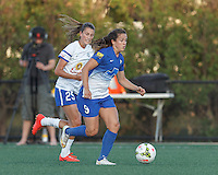 Allston, Massachusetts - May 30, 2015:  In a National Women's Soccer League (NWSL) match, Boston Breakers (blue) defeated FC Kansas City (white/blue), 1-0, at Soldiers Field Soccer Stadium.