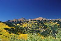Slumgullion Pass in autumn, near Lake City, Colorado.