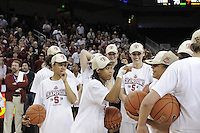 March 14, 2010.  Melanie Murphy after the Stanford Cardinal beat the UCLA Bruins to win the 2010 Pac-10 Tournament.