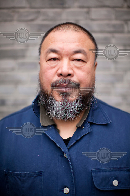Outspoken Chinese artist Ai Weiwei at his studio in Beijing. He has received a GBP 1.5 million tax bill from the Chinese authorities but denies its legitimacy.  However, he has had to pay GBP 845,000 in order to contest the demand..