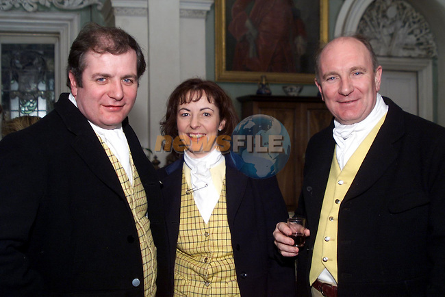 Gavin Duffy pictured with wife Orlaith and brother Padraig taking part in the hunt at Beaulie house..pic: Newsfile