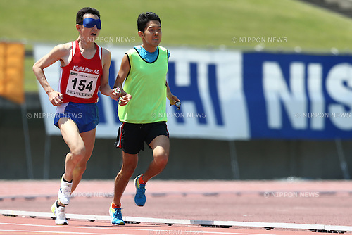 Shinya Wada,<br /> MAY 1, 2016 - Athletics :<br /> Japan Para Athletics Championships<br /> Men's 5000m T11 Final<br /> at Coca Cola West Sports Park, Tottori, Japan.<br /> (Photo by Shingo Ito/AFLO SPORT)