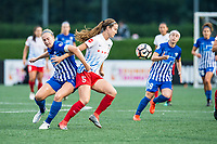 Boston, MA - Friday July 07, 2017: Natasha Dowie and Kathleen Naughton during a regular season National Women's Soccer League (NWSL) match between the Boston Breakers and the Chicago Red Stars at Jordan Field.
