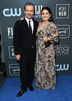 12 January 2020 - Santa Monica, California - David Heyman, Shannon McIntosh. 25th Annual Critici's Choice Awards - Press Room held at Barker Hangar. Photo Credit: Birdie Thompson/AdMedia
