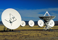 Very Large Array (VLA). several satellite antenna dishes. New Mexico, Plains of San Agustin.