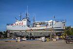 Port Townsend, salmon packer Viking, Boat Haven Marina, Jefferson County, Olympic Peninsula, Washington State, Pacific Northwest, USA, boat harbor, boat repair,