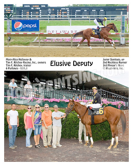 Elusive Deputy winning at Delaware Park on 7/9/12