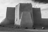 The famous church in Ranches de Taos is one of the best known landmarks in Taos, New Mexico.